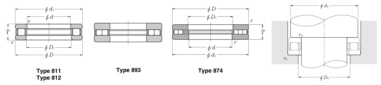 87428 Consolidated Bearing THRUST ROLLER BEARING